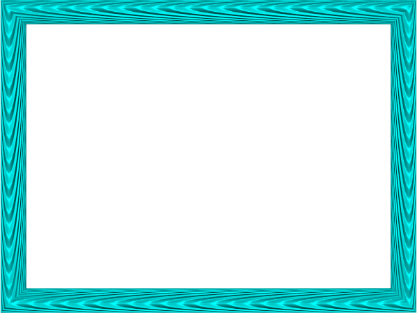 Elegant Fabric Fold Embossed Frame Border in Aqua color, Rectangular perfect for Powerpoint