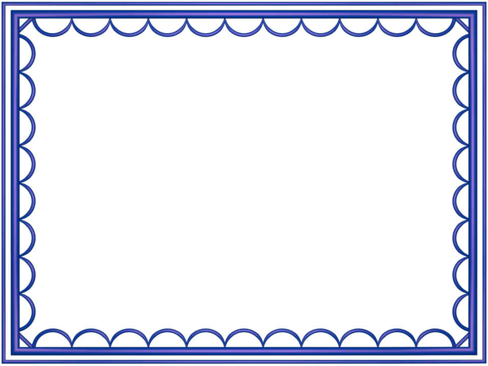 artistic loop Border in Indigo color, Rectangular perfect for Powerpoint