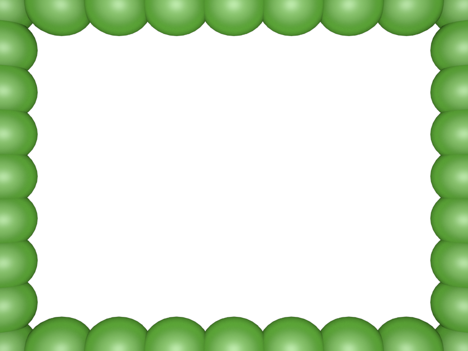 Light Green Bubbly Pearls Rectangular Powerpoint Border