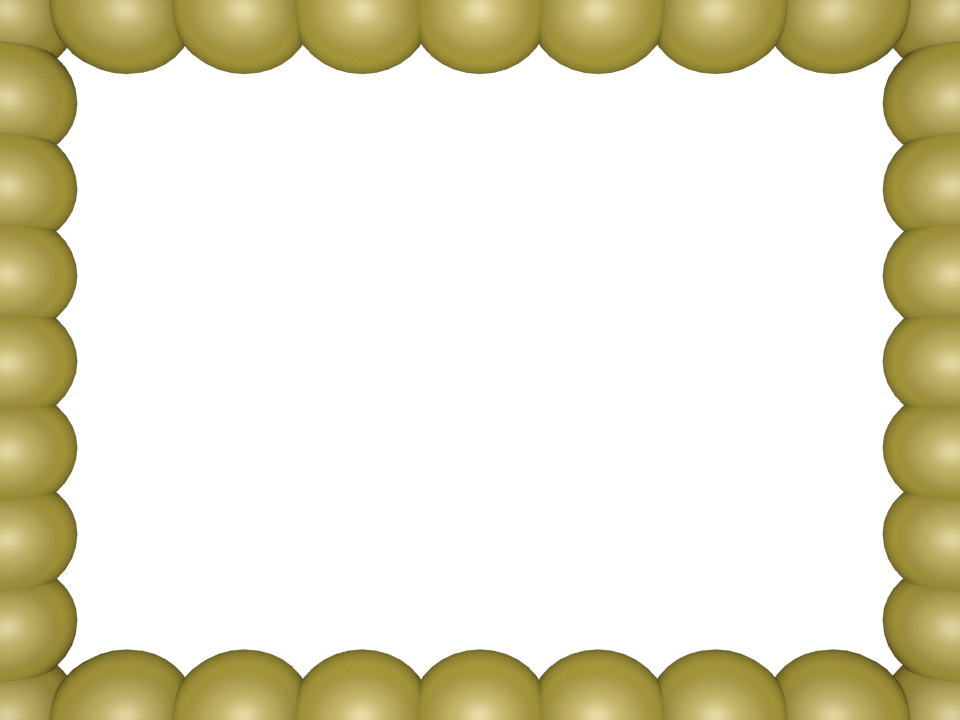 Bubbly Pearls Border in Light Yellow color, Rectangular perfect for Powerpoint
