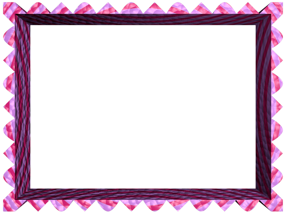 Pink Purple Fancy Loop Cut Rectangular Powerpoint Border