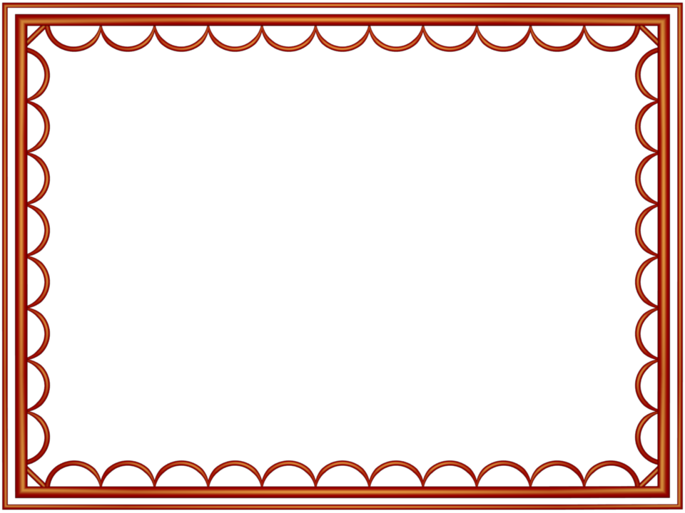 Red artistic loop Rectangular Powerpoint Border | 3D Borders