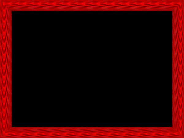 Red Elegant Fabric Fold Embossed Frame Rectangular ...