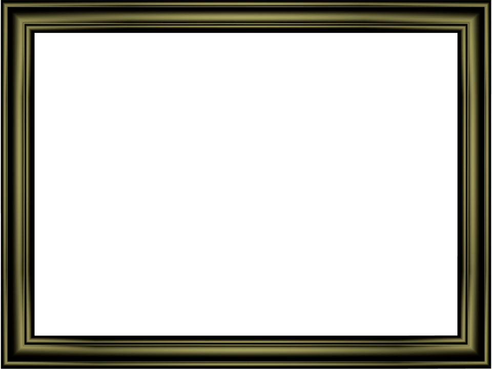 Shiny Black Elegant Embossed Frame Rectangular Powerpoint