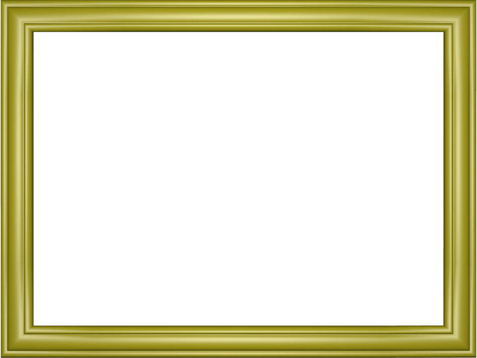 Elegant Embossed Frame Border in Yellow color, Rectangular perfect for