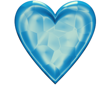 Blue Valentine Heart Clip Art with Glowing Texture - Valentine Heart Clip-art