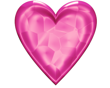 Pink Valentine Heart Clip-Art with Glowing Texture