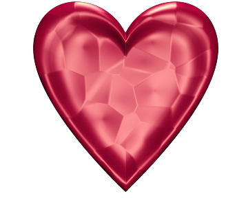 Subtle Pink Valentine Heart Clip Art with Glowing Texture