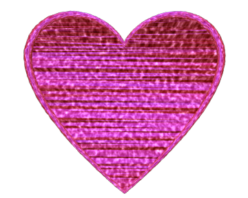 Love Heart with Pink Fabric Texture Transparent Background - Valentine Clip-art