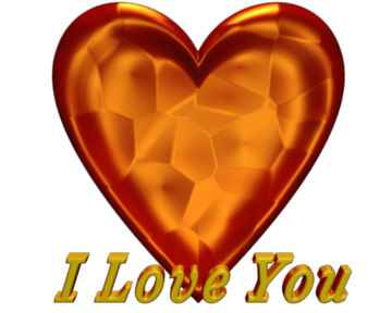 3d Text I Love You Red Valentine Heart Clip art