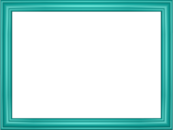 Elegant Embossed Frame Border in Aqua color, Rectangular perfect for Powerpoint