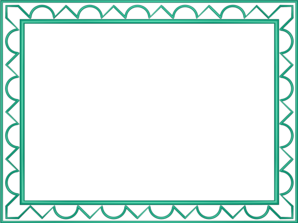 Artistic Loop Triangle Border in Cyan color, Rectangular perfect for Powerpoint