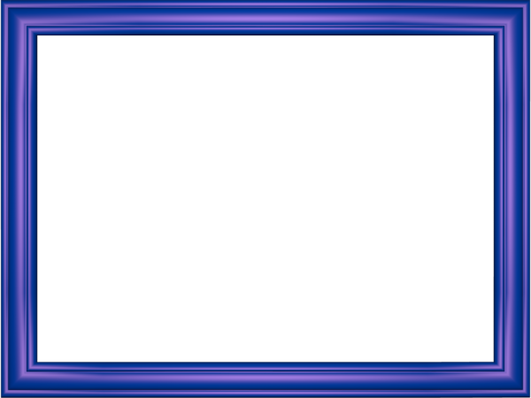 Elegant Embossed Frame Border in Indigo color, Rectangular perfect for Powerpoint