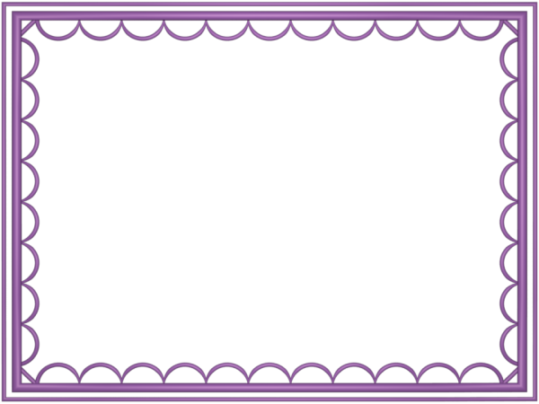 artistic loop Border in Mauve color, Rectangular perfect for Powerpoint