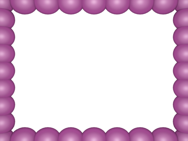 Bubbly Pearls Border in Pink Purple color, Rectangular perfect for Powerpoint