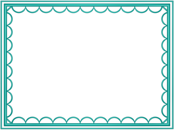 artistic loop Border in Aqua color, Rectangular perfect for Powerpoint