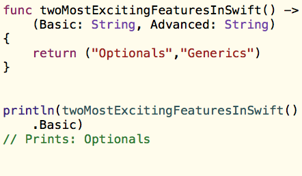 Swift Functions - Multiple Return Types and External Parameters