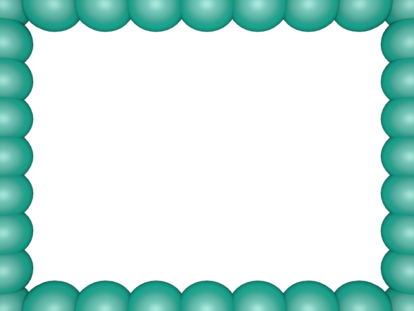 Bubbly Pearls Border in Aqua color, Rectangular perfect for Powerpoint
