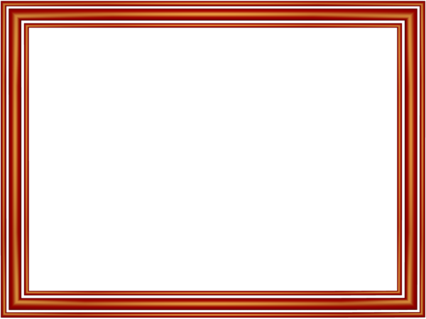 Elegant 3 Separate Bands Border in Red color, Rectangular perfect for Powerpoint