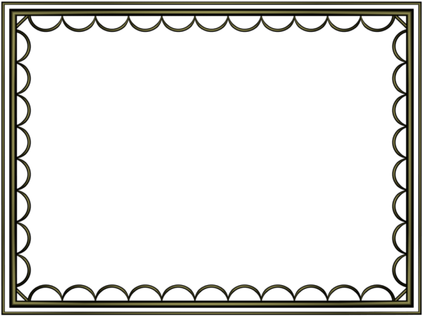 artistic loop Border in Shiny Black color, Rectangular perfect for Powerpoint