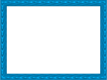 Elegant Fabric Fold Embossed Frame Border in Blue color, Rectangular perfect for Powerpoint