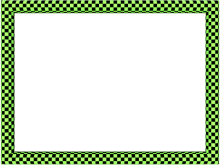 Funky Checker Border in Green Black color, Rectangular perfect for Powerpoint