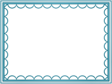 artistic loop Border in Light Blue color, Rectangular perfect for Powerpoint