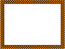 Funky Checker Border in Orange Black color, Rectangular perfect for Powerpoint