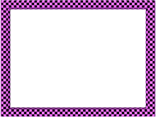 Funky Checker Border in Pink Black color, Rectangular perfect for Powerpoint