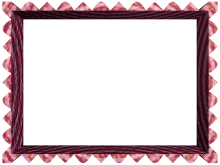 Fancy Loop Cut Border in Pink Plum color, Rectangular perfect for Powerpoint