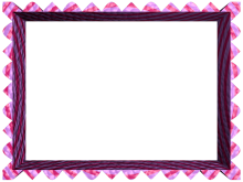 Fancy Loop Cut Border in Pink Purple color, Rectangular perfect for Powerpoint