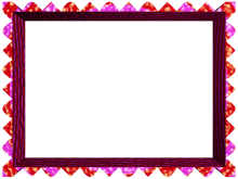 Fancy Loop Cut Border in Pink Red color, Rectangular perfect for Powerpoint