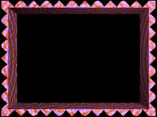 Fancy Loop Cut Border in Purple Orange color, Rectangular perfect for Powerpoint