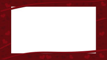 Landscape HD Dark Red Valentine's Day Hearts Border