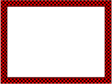 Funky Checker Border in Red Black color, Rectangular perfect for Powerpoint