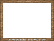 Wooden Friends Forever Encarved Rectangular Powerpoint Border
