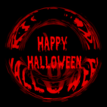 Happy Halloween - Mystic Background - Red and Black